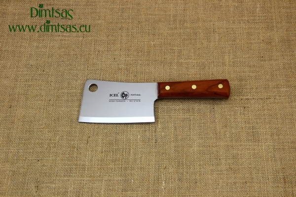 Cleaver Stainless Steel 20 cm with Yellow Handle
