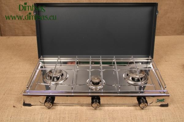 Συσκευή Υγραερίου De Luxe Ανοξείδωτη 2 1/2 Εστιών