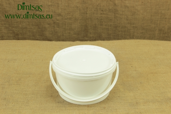 Cheese Container Round Wide-Short 5 Kg or 5.3 lit