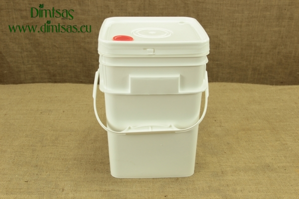 Cheese Container Square 16 Kg or 19 lit