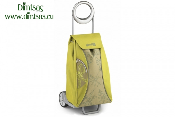 Shopping Trolley Bag Market Queen Yellow Green