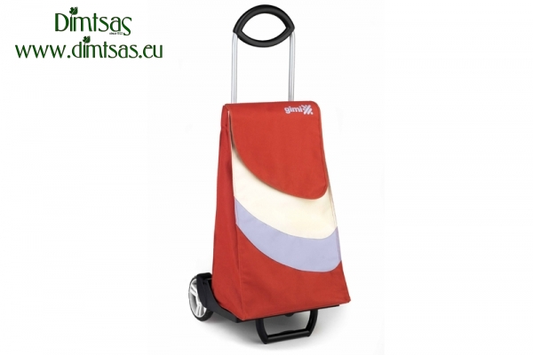 Shopping Trolley Bag Easy Go Brick Red