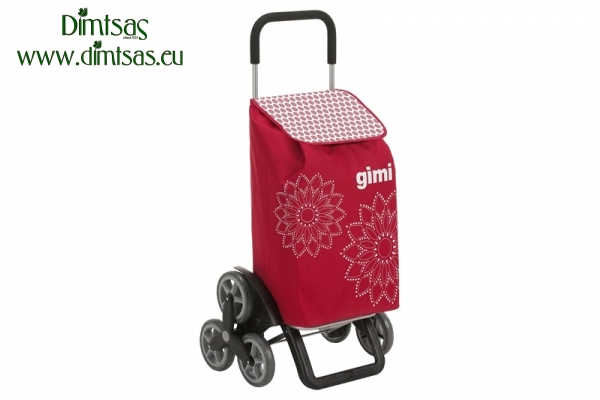 Shopping Trolley Bag Tris Floral Red