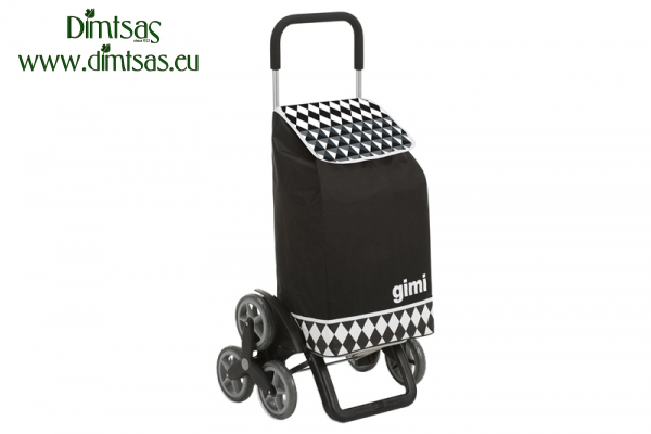Shopping Trolley Bag Tris Optical Black