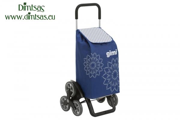 Shopping Trolley Bag Tris Optical Blue