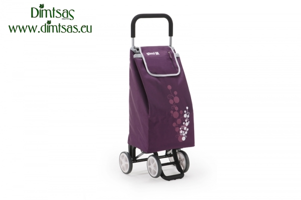 Shopping Trolley Bag Twin Plum