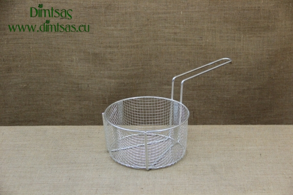 Frying Basket Tinned No23 for Professional Fryer Pot No26 with Long Handle
