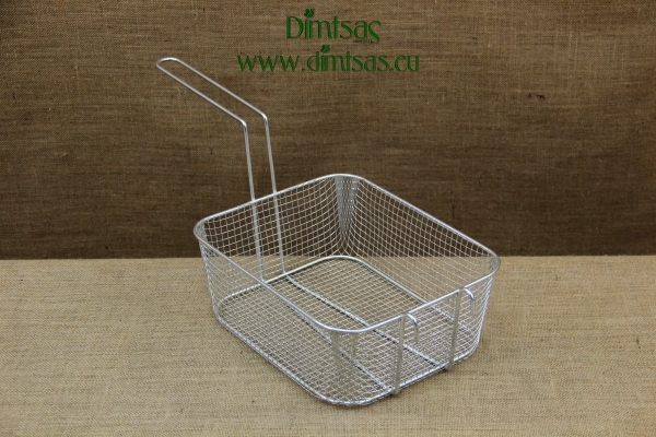 Frying Basket Professional Rectangular Tinned No4