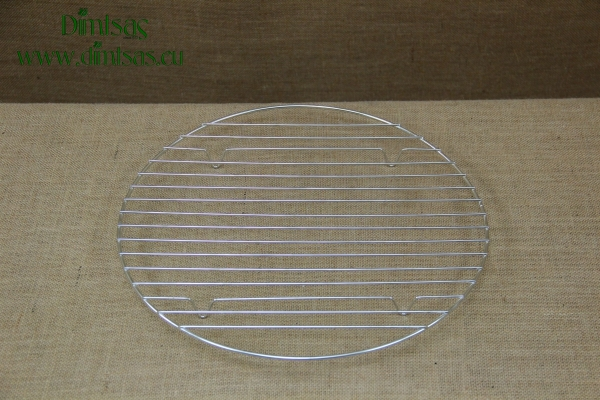 Round Tinned Grill Cooking Grates with Stable Legs 37 cm