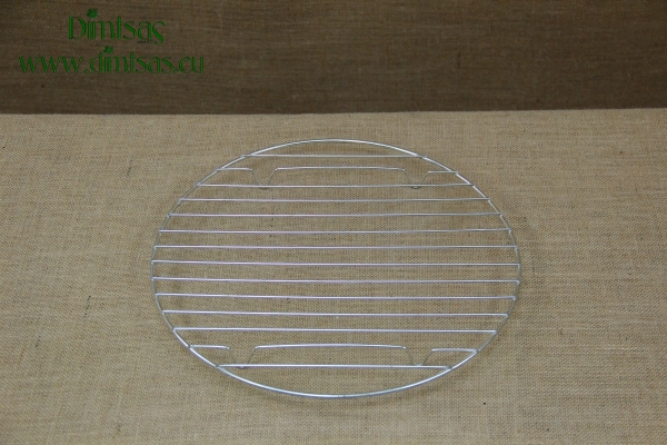 Round Tinned Grill Cooking Grates with Stable Legs 33 cm