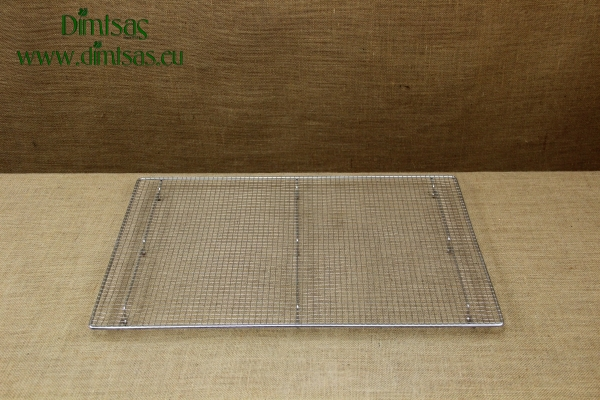 Rectangular Stainless Steel Confectionery Cooking Grate with Stable Legs 58.5x38.5