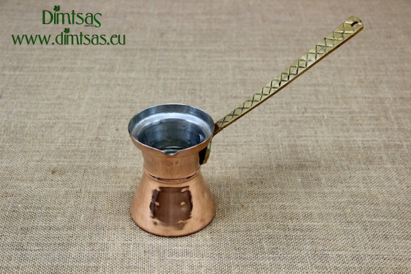 Copper Hammered Coffee Pot No10