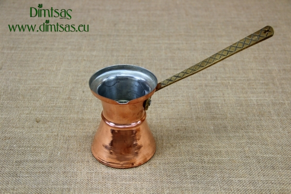 Copper Hammered Coffee Pot No8