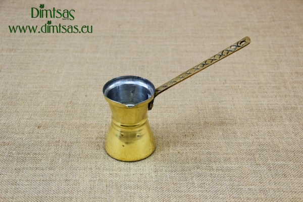 Brass Hammered Coffee Pot No4