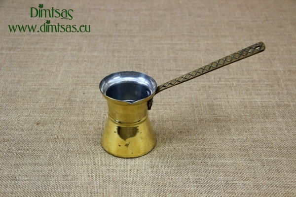 Brass Hammered Coffee Pot No5