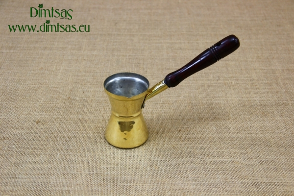 Brass Hammered Coffee Pot with Wooden Handle No3