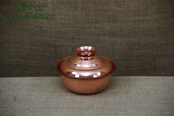 Copper Mini Pot Curved No3