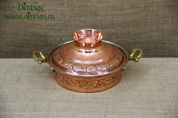 Copper Pot Carved No1
