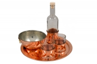Copper Tray for Ouzo No24 Twelfth Depiction
