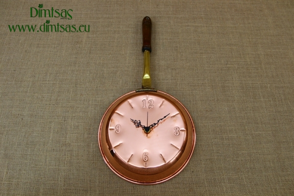 Copper Wall Clock Frying Pan