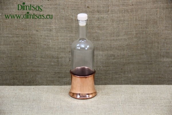 Bottle for Ouzo with Copper Base