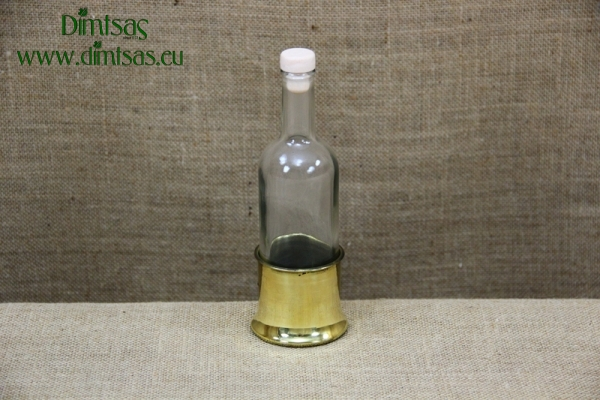 Bottle for Ouzo with Brass Base
