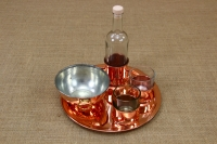 Glass for Ouzo with Copper Base Fourth Depiction