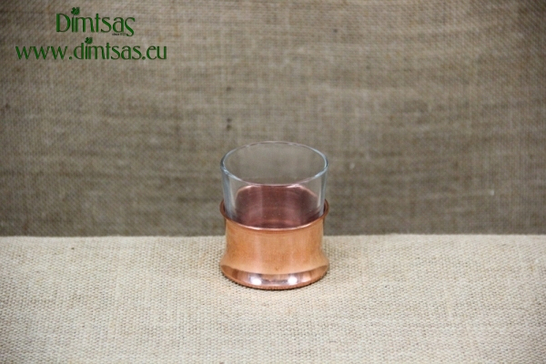 Glass for Ouzo with Copper Base