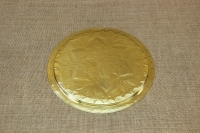 Brass Serving Tray Round Engraved No26 First Depiction