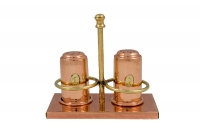 Copper Set for Salt & Pepper with Stand Fifteenth Depiction