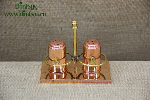 Copper Set for Salt & Pepper with Stand