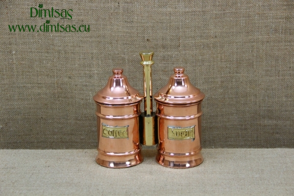 Copper Sugar Pot Double