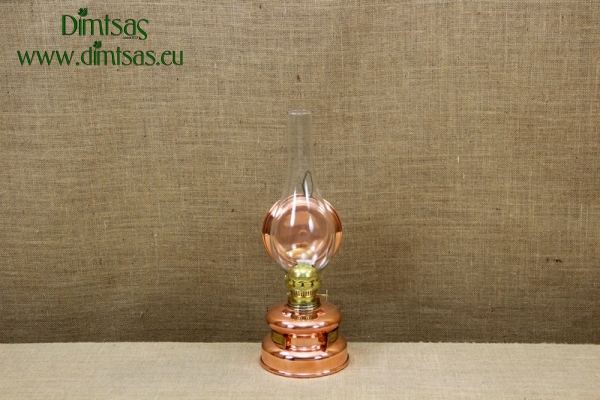 Copper Hanging Oil Lamp Engraved