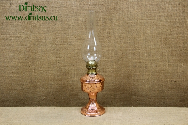 Copper Oil Lamp Tabletop Engraved No2