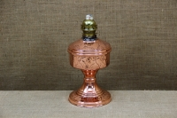 Copper Oil Lamp Tabletop Engraved No2 Second Depiction