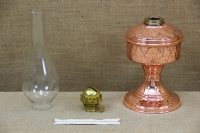 Copper Oil Lamp Tabletop Engraved No2 Third Depiction