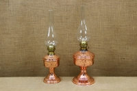 Copper Oil Lamp Tabletop Engraved No2 Fourth Depiction