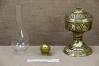 Brass Oil Lamp Tabletop Engraved Vintage No2 Third Depiction