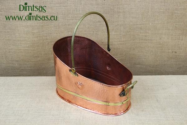 Copper Firewood Holder Antiqued