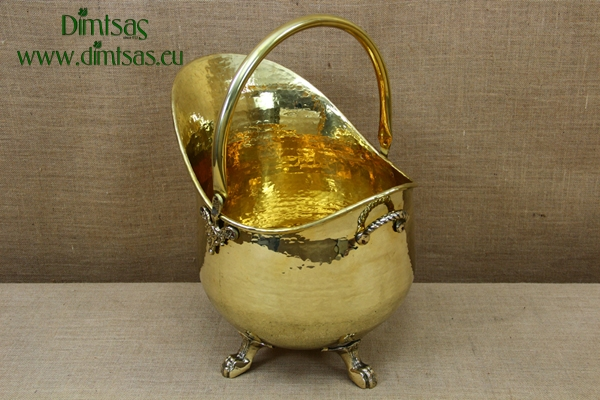 Brass Firewood Holder Antiqued