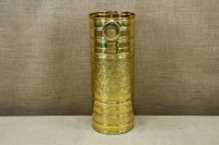 Brass Umbrella Stand Cylinder Engraved First Depiction