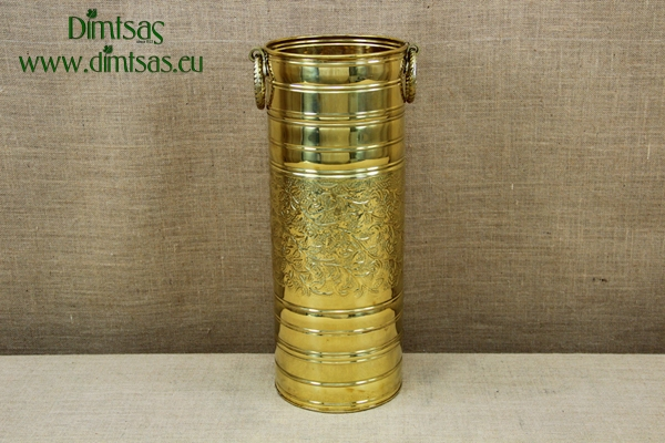 Brass Umbrella Stand Cylinder Engraved