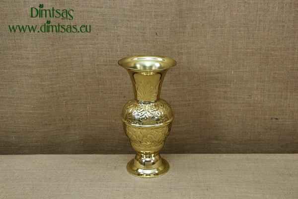 Brass Vase Engraved No2