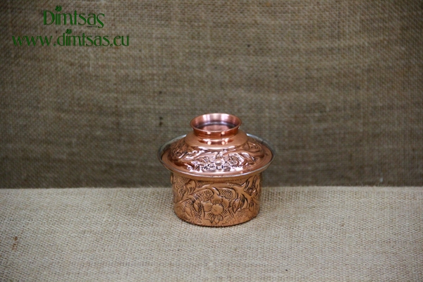 Copper Mini Pot Engraved No3