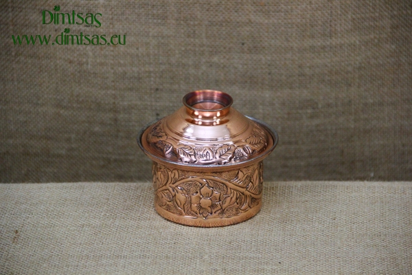 Copper Mini Pot Engraved No2