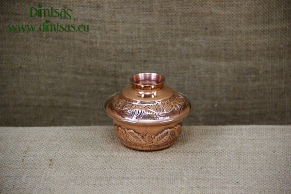 Copper Mini Pot Curved Engraved No1