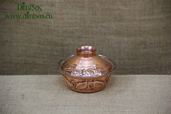 Copper Mini Pot Curved Engraved No2