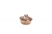 Copper Mini Pot Curved Engraved No3 Sixth Depiction