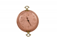 Copper Wall Clock Frying Pan with Handles Sixth Depiction