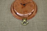 Copper Wall Clock Frying Pan with Handles Second Depiction